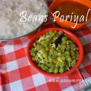 Beans Poriyal | Beans Poriyal Recipe