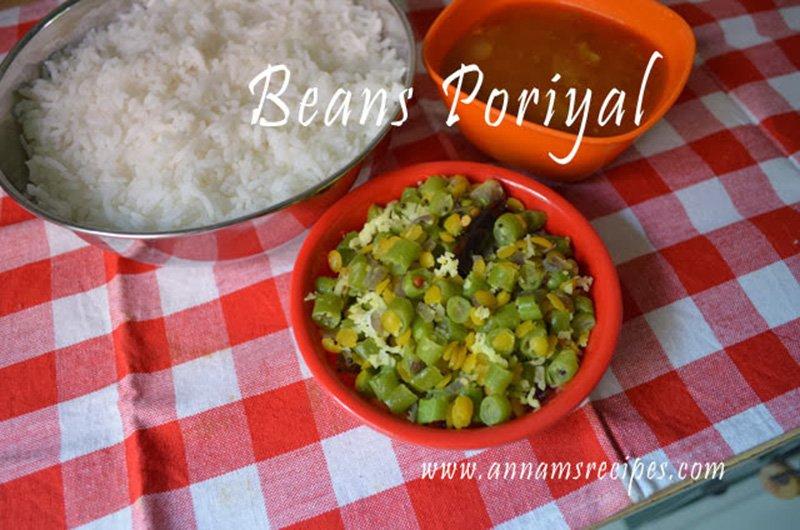 Beans Poriyal Beans Poriyal Recipe