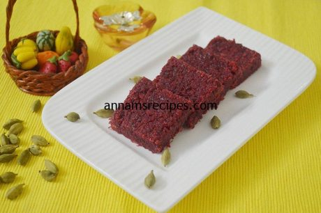 Beetroot Burfi Recipe Beet burfi recipe