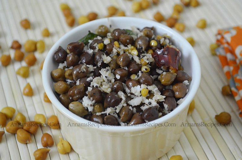Black Channa Sundal black channa sundal recipe