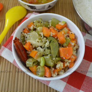 Carrot Beans Poriyal | Beans Carrot Poriyal recipe