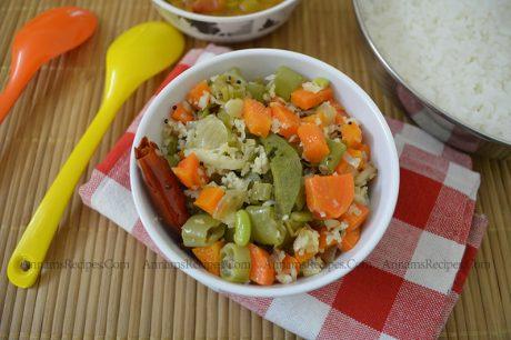 Carrot Beans Poriyal beans carrot poriyal recipe