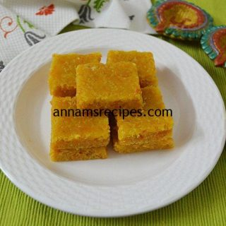 Carrot Burfi recipe | Carrot Burfi recipe without Milk powder
