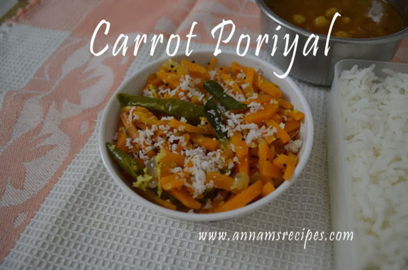 Carrot Poriyal Carrot Poriyal recipe