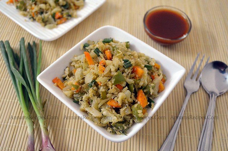 Cauliflower Fried Rice cauliflower fried rice paleo recipe