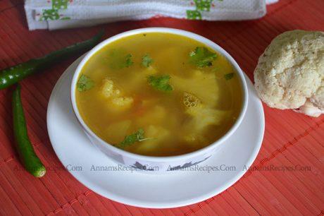 Chettinad Cauliflower Soup recipe Cauliflower Soup