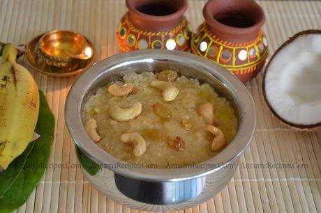 Chettinad Sakkarai Pongal sweet pongal recipe