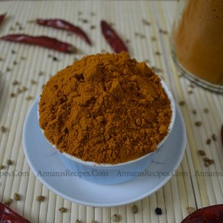 Chettinad Sambar Powder | Chettinad Kulambu Podi