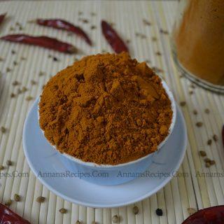Chettinad Sambar Powder | Chettinad Kulambu Podi