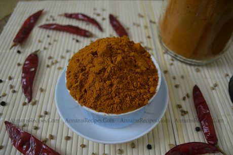 Chettinad Sambar Powder chettinad kulambu podi