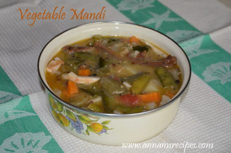 Chettinad Vegetable Mandi chettinad mandi recipe