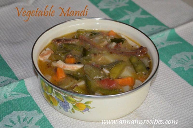 Chettinad Vegetable Mandi chettinad mandi recipe