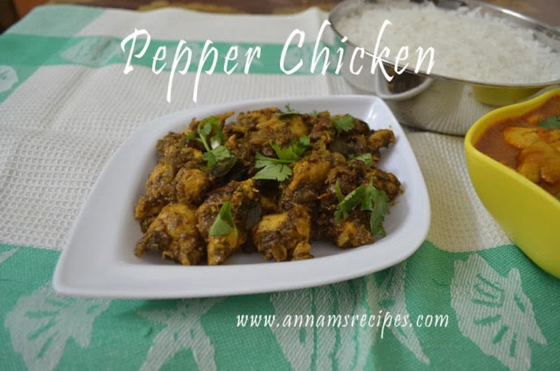Chicken Pepper Fry chicken pepper roast