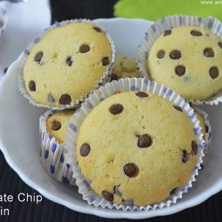 Chocolate Chip Muffins | Chocolate Chip Muffins Recipe