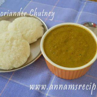 Coriander Chutney for Dosa | Coriander Chutney Recipe
