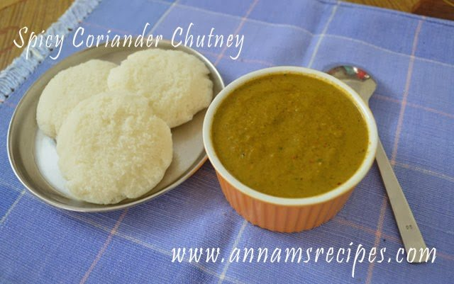 Coriander Chutney for Dosa Coriander Chutney Recipe