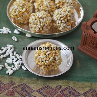 Nel Pori Urundai for Karthigai Deepam | Nel Pori Urundai recipe
