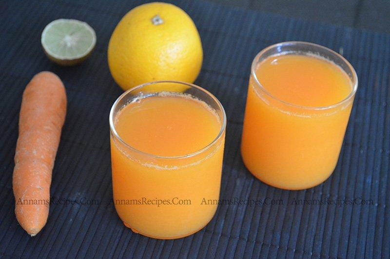 Orange carrot Juice orange carrot juice recipe