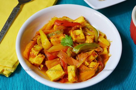 Paneer Capsicum curry paneer capsicum curry recipe