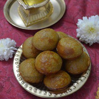 Sweet Kuzhi Paniyaram Recipe | Chettinad Sweet Kuzhi Paniyaram