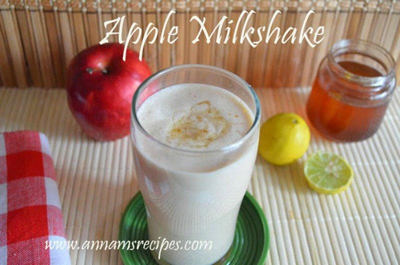 apple milkshake recipe apple milkshake