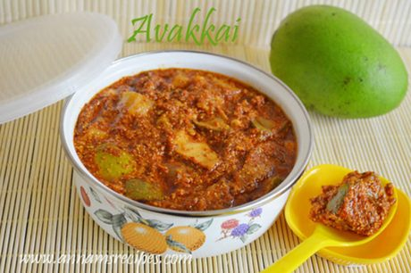 Avakkai Mango Pickle Avakkai Pickle recipe