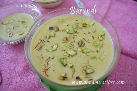 basundi sweet recipe basundi