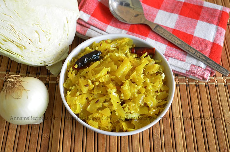 Cabbage Thoran Cabbage Poriyal recipe