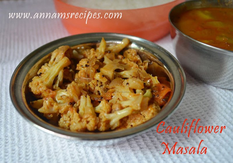 cauliflower curry recipe chettinad cauliflower masala