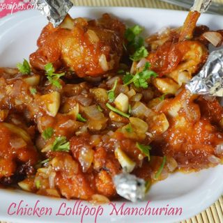 Chicken Lollipop Manchurian | Chicken Lollipop Manchurian Recipe