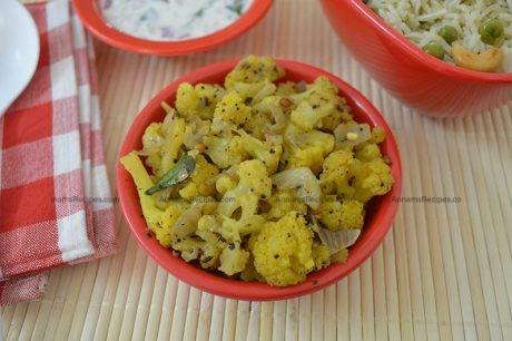 Cauliflower Pepper Fry recipe Simple Cauliflower Fry