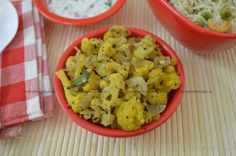 Cauliflower Pepper Fry recipe Simple Cauliflower Fry
