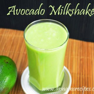 Healthy Avocado Milkshake | Avocado Milkshake recipe