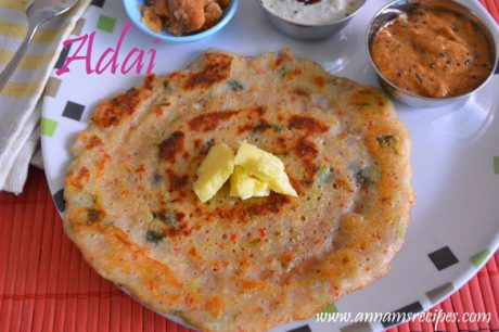 how to make ada adai recipe