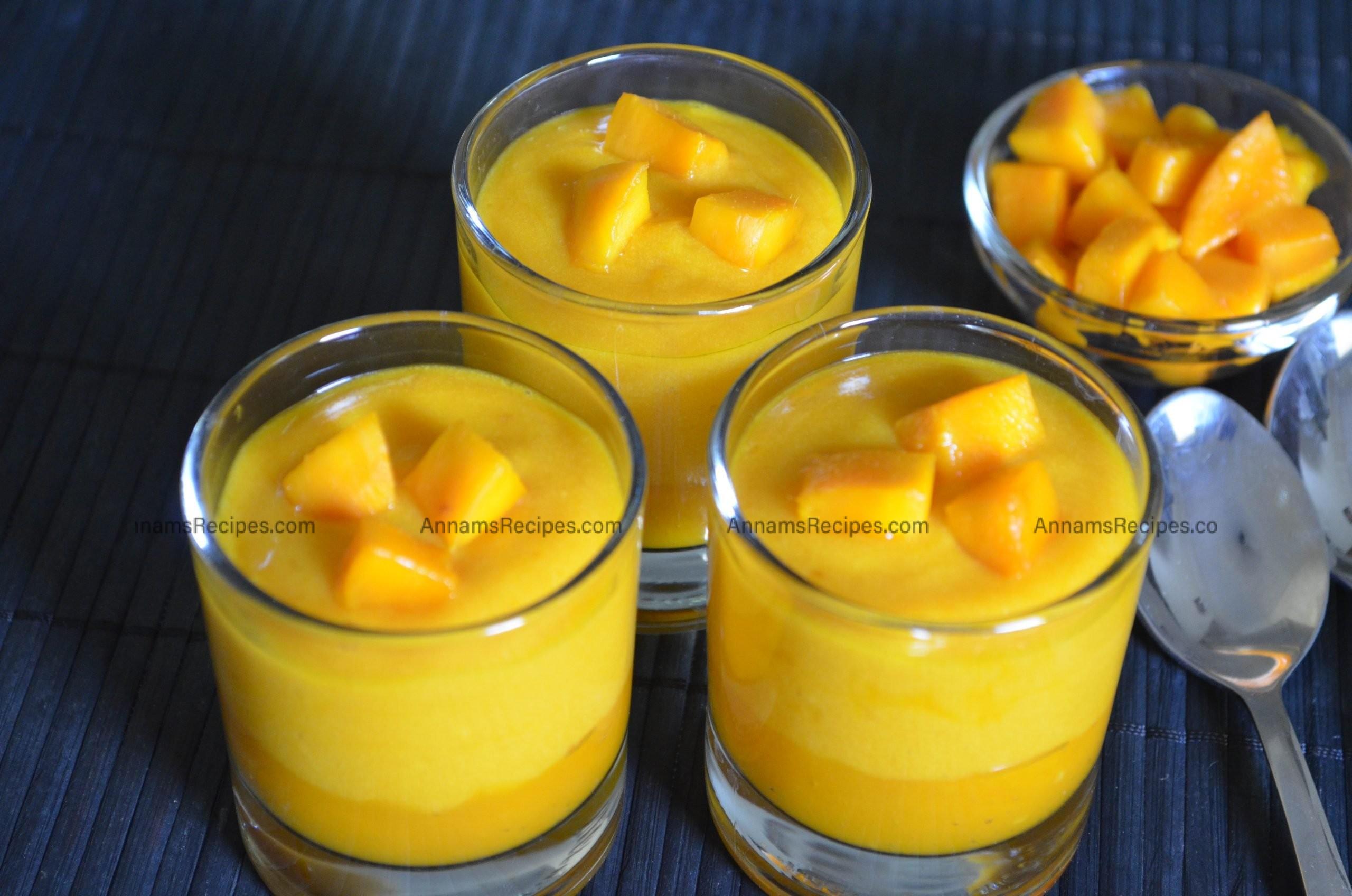 Mango Mousse recipe Mango Mousse without Gelatin