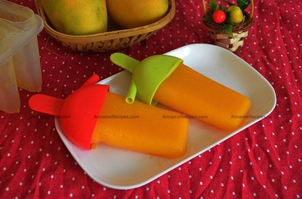 Mango Popsicles at home Mango Popsicles recipe