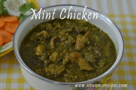 mint chicken gravy mint chicken curry