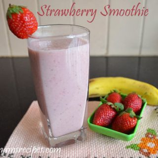 Strawberry Banana Yogurt Smoothie| Strawberry Banana Smoothie recipe