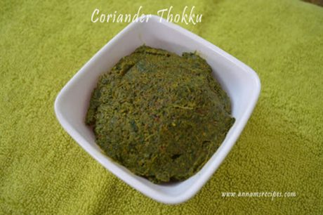 Chettinad Coriander Thokku Coriander Thokku Recipe