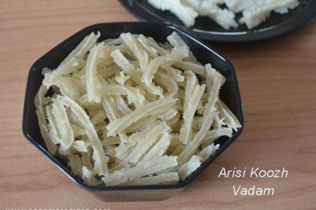 Chettinad Murukku Vathal Recipe Arisi Koozh Vadam