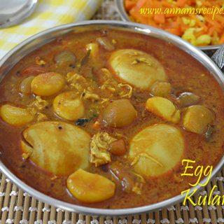 Chettinad Muttai Kulambu | Chettinad Egg Kulambu for Rice