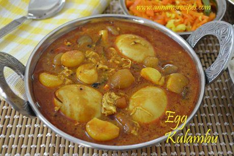 Chettinad Muttai Kulambu Chettinad Egg Kkulambu for Rice