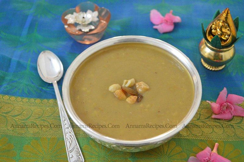 Chettinad Paruppu Payasam Pasi Paruppu Payasam Recipe