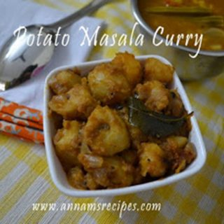 Chettinad Potato Masala curry | Spicy Potato Curry