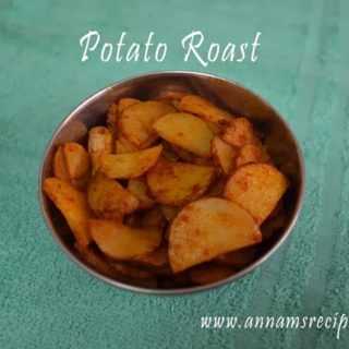 Chettinad Potato Roast | Potato Roast Recipe