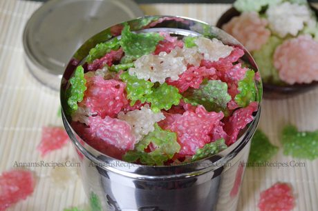 Colour Javvarisi Vadam Javvarisi Vadam Recipe in Tamil