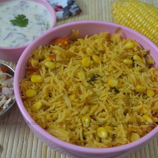 Corn Biryani | Sweet Corn Biryani Recipe
