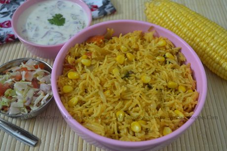Corn Biryani Sweet Corn Biryani Recipe