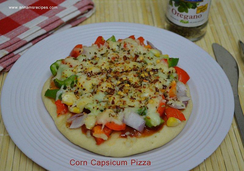 Corn Capsicum Pizza Corn Capsicum Pizza recipe with pictures