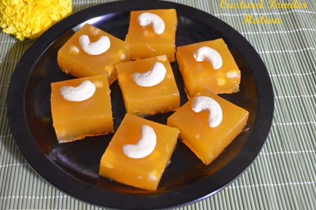 Custard Powder Halwa Recipe Custard Powder Halwa